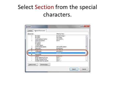 section symbol in word how to add a word shortcut for the section symbol for
