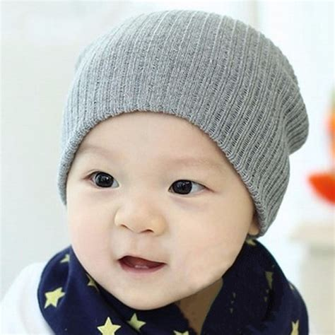 knitted beanies for children cap 12 colors baby hat for boys knit baby
