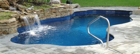 waterfalls for pools inground inground pool with waterfall pools for home