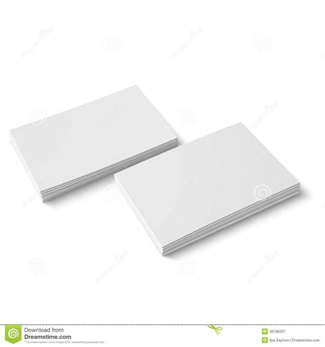 two stack of blank business card royalty free stock