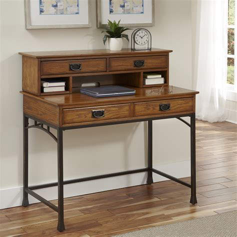 modern desk with hutch home styles modern craftsman computer desk with hutch and