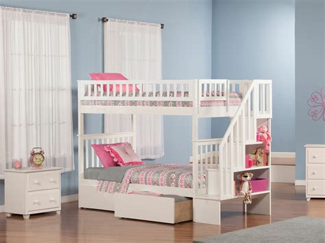 woodland twin bedding woodland twin twin staircase bunk bed white ab56602