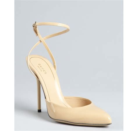 Minka Aliph Spain Silver Heels lyst gucci beige patent leather pointed toe strappy heel