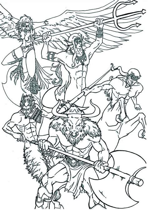 greek gods and goddesses coloring pages free az coloring