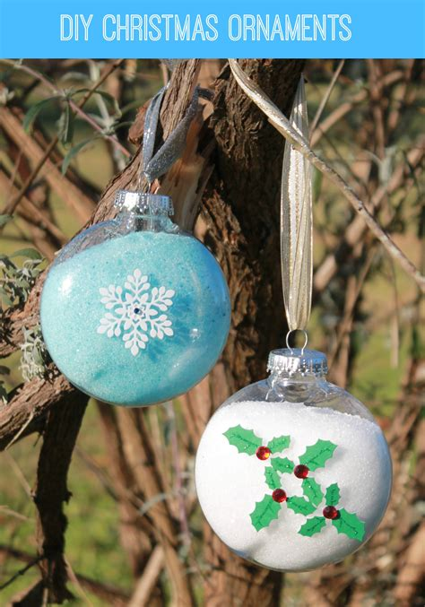 diy christmas ornaments easy diy snowflake christmas ornament