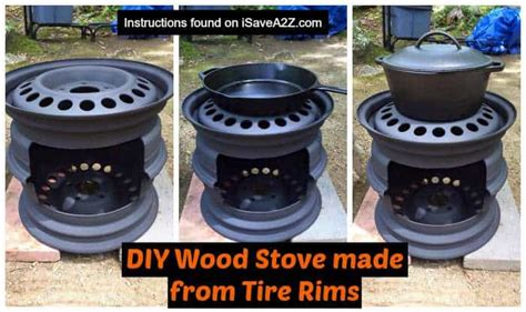 diy wood stove   tire rims isaveazcom