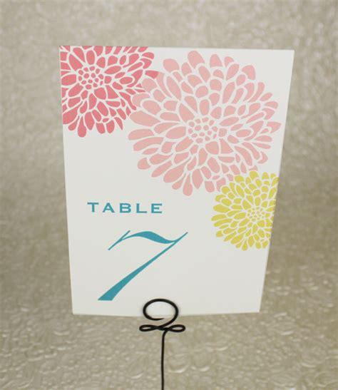 printable table numbers designs table number template chrysanthemum design download print