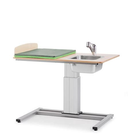 Baby Changing Table Height Height Adjustable Baby Changing Table Elin Incl R H Sink 1200x800 Mm Aj Products