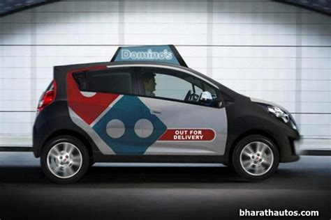 Dominos Pizza Cars by Chevrolet Beat Bags 5000 Cars Order For Delivering Domino