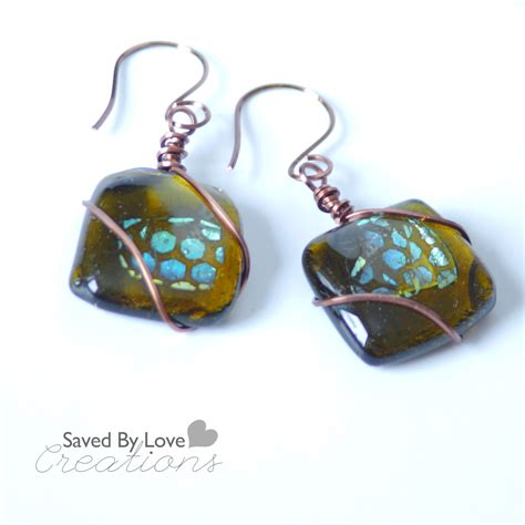 glass jewelry easy beginner s glass fusing recycled glass dichroic earrings