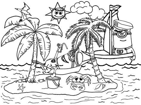 mewarnai gambar pemandangan pantai mewarnai gambar pemandangan newhairstylesformen2014 com