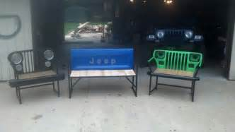 jeep furniture jeep parts turned into outdoor furniture jeep furniture