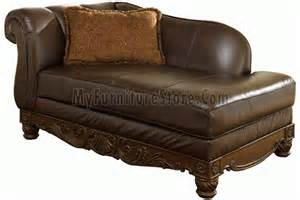 North Shore Chaise North Shore Dark Brown Left Corner Chaise By Ashley