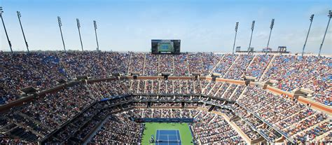 us open seating capacity arthur ashe stadium retractable roof architectural design