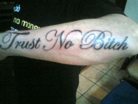 bitch tattoo trust no picture at checkoutmyink