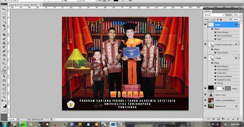 foto desain grafis desain grafis tutorial cara membuat background foto wisuda