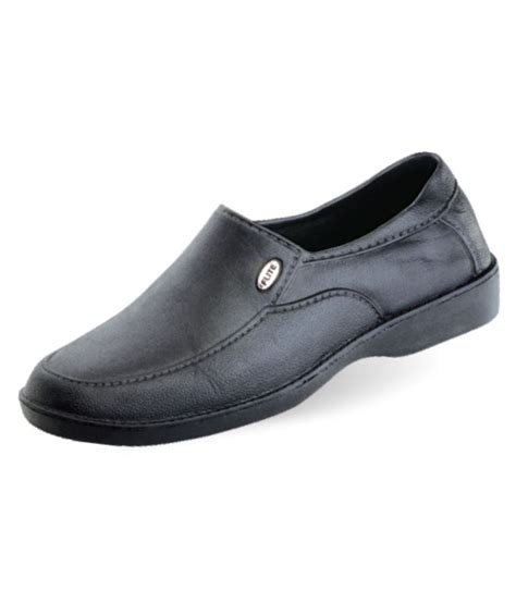 relaxo flite black slip on non leather formal shoes price