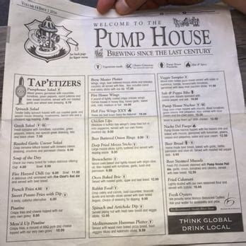 the pump house menu the pump house brewery and restaurant 171 photos 80 reviews breweries 5 orange