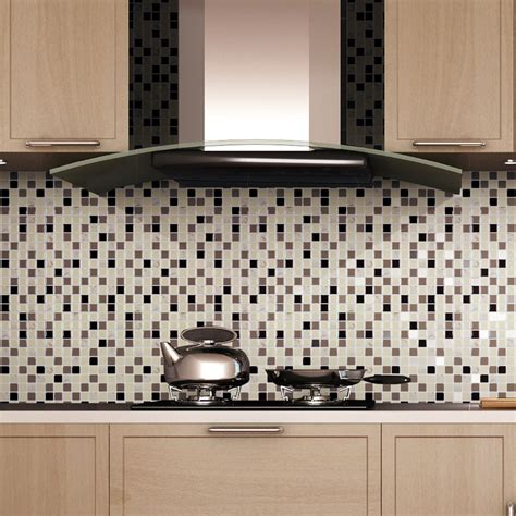 peel stick backsplash mosaic 11 2 x 12in 6 pcs 10 67 sq ft