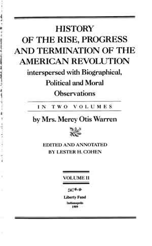 History of the Rise, Progress, and Termination of the