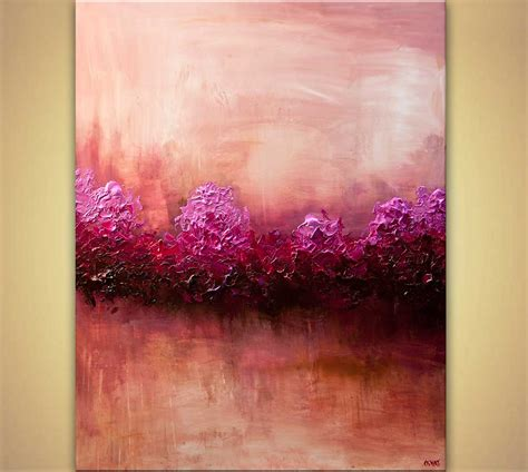 paintings home decor buy large modern pink abstract home decor 7867
