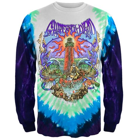 grateful dead tower tie dye sleeve mens t shirt