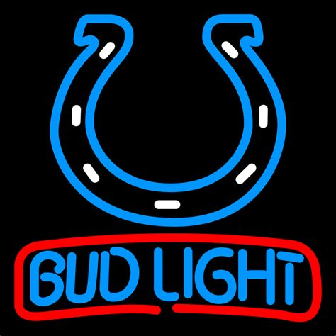 bud light nfl neon sign nfl bud light indianapolis colts neon sign neon