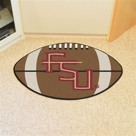 fsu rug fan mats 4924 fsu florida state seminoles 20 5 quot x 32 5 quot football shaped area rug