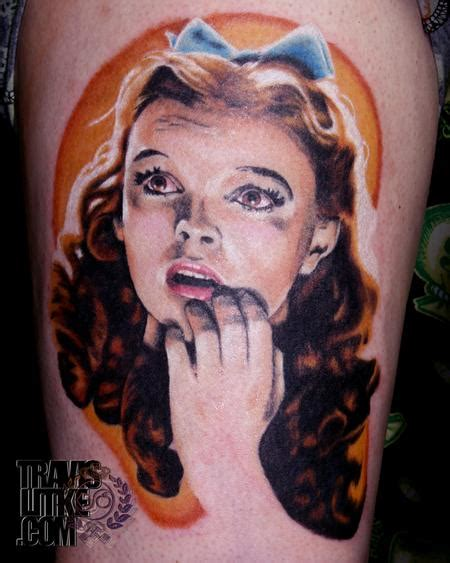 garland tattoo dorothy judy garland wizard of oz by travis litke