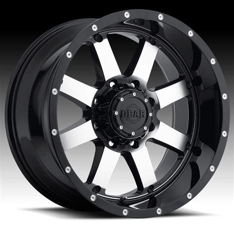gear alloy 726m big block machined black 17x9 8x170 18mm