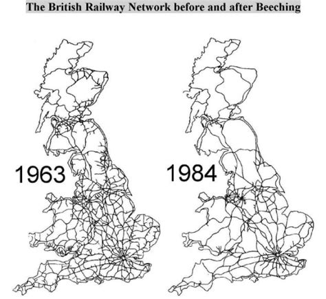 map uk rail lines railway maniacs beeching report fifty years later