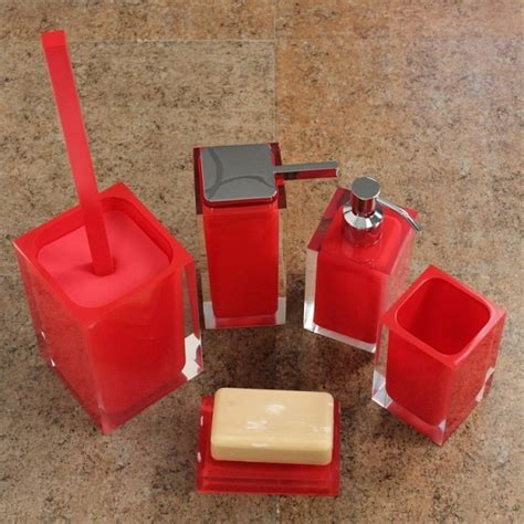 london bathroom accessories rainbow red bathroom accessory set contemporary bathroom accessory sets london by