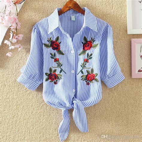Korean Embroidery Blouse 2019 blouse embroidery shirts 2018 korean