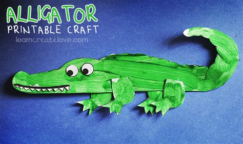 alligator crafts for printable alligator craft