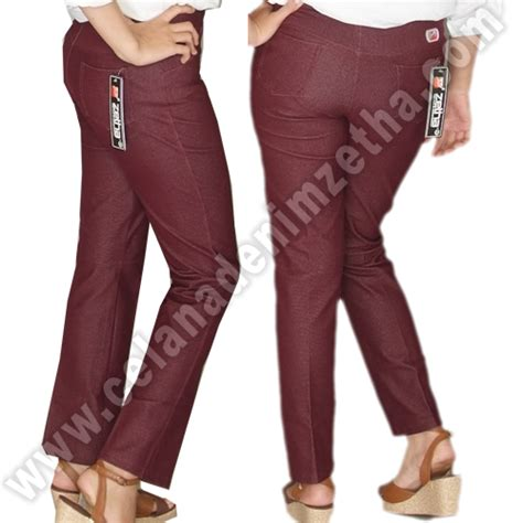 celana zetha denim burgundy celana denim zetha