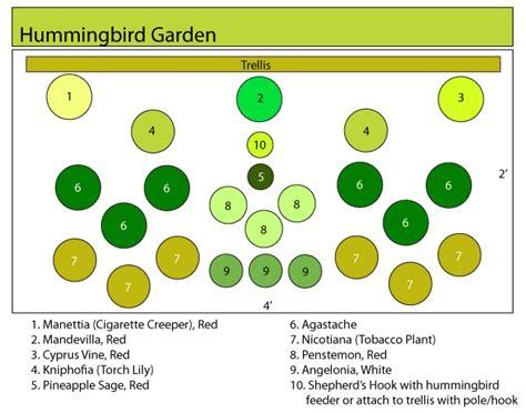 Hummingbird Garden Layout Hummingbird Garden Plans Hummingbird Butterfly Garden Pinterest