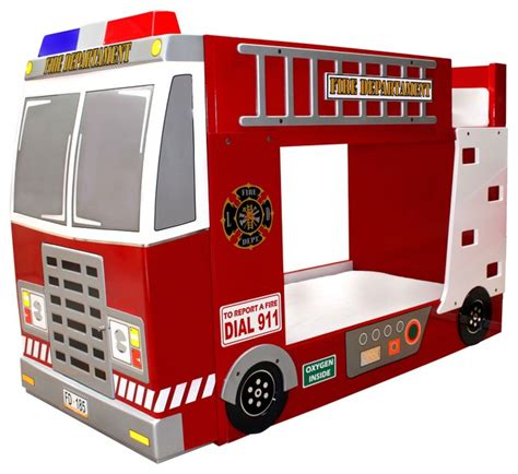 fire truck kids bed fire truck bunk bed contemporary kids beds by polart