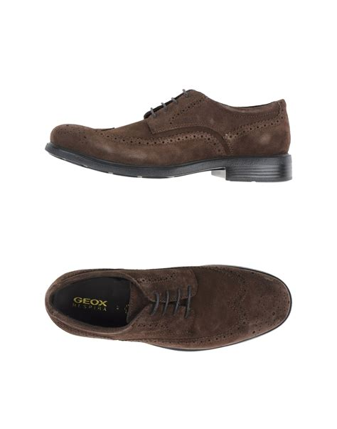 geox shoes for lyst geox lace up shoes in brown for