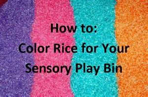 how to make colored rice how to make colored rice for your sensory play bin