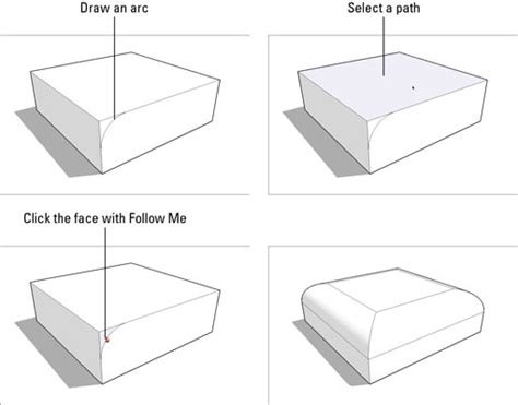 sketchup layout rounded rectangle how to subtract from a model with follow me in google
