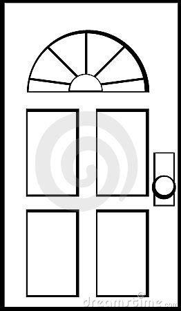 Preschool Kitchen Furniture door vector illustration stock photo image 5078870