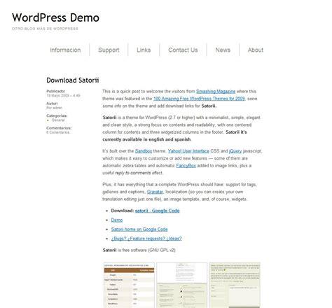 simple wordpress templates