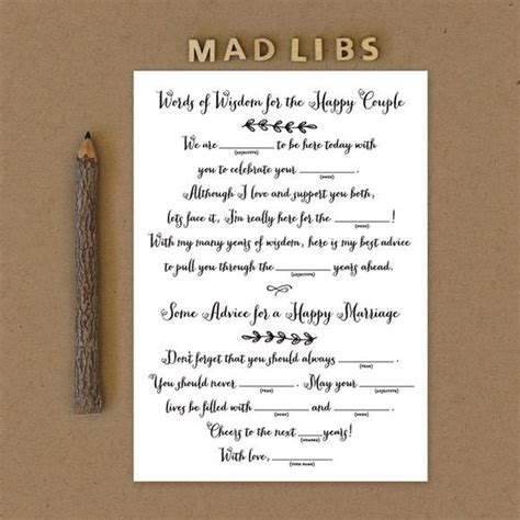 mad lib wedding invitations rustic country mad libs printable by basic invite