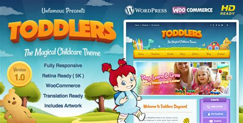 Toddlers Child Care Playgroup Wordpress Theme Theme Share 123 Wordpress Themes Joomla Playgroup Website Templates