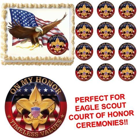 eagle scout   honor court  honor ceremony edible cake topper image frosting sheet edible