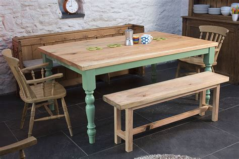 traditional farmhouse kitchen table by the school