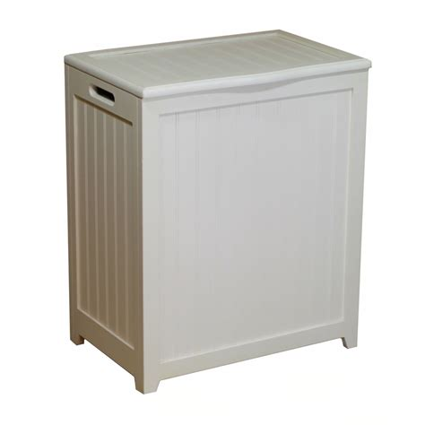 white laundry with lid wood her laundry basket clothes her with lid white