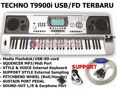 Keyboard Techno Di Malaysia keyboard techno distributor grahasta musik jual keyboard techno t9900i usb flashdisk terbaru