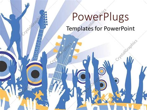 rock powerpoint themes powerpoint template hands raised in the air for music