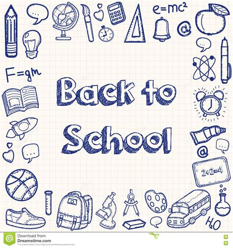 school of doodle sign up back to school doodles background education